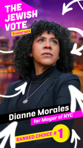 The Jewish Vote endorses Dianne Morales for NYC Mayor Ranked Choice #1 JFREJ